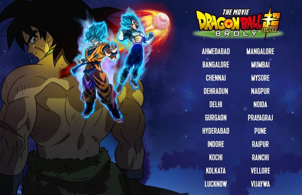 Dragon Ball Super Broly India Release Cities