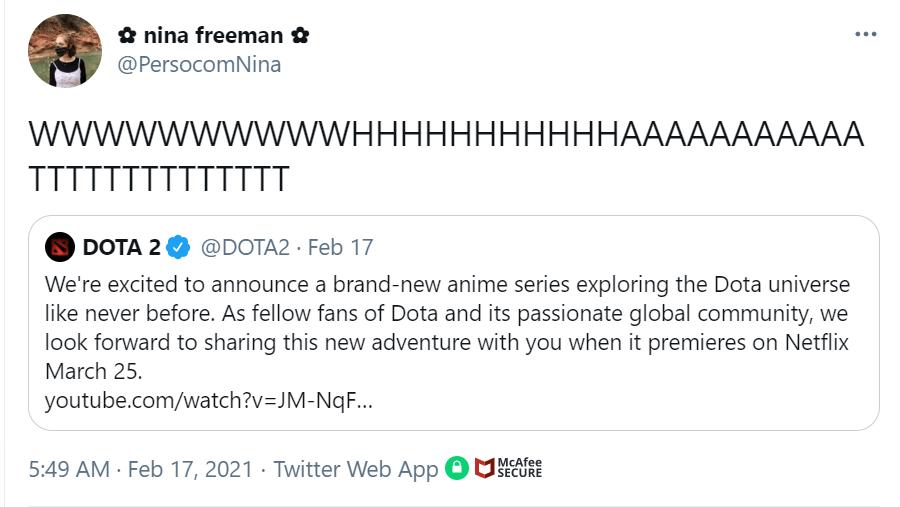 Netflix's DOTA: Dragon's Blood Fan Tweets