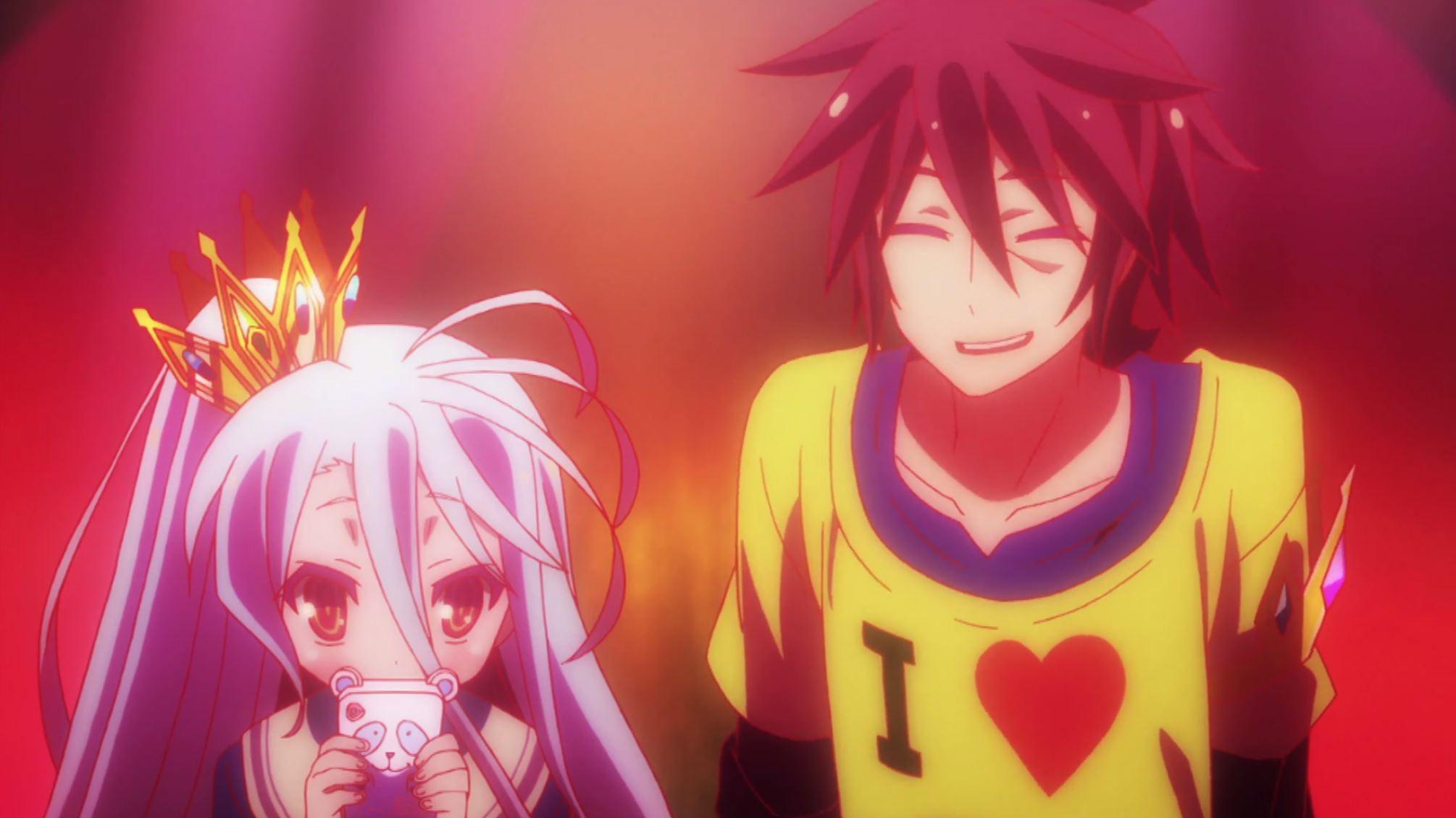 Sora and Shiro in No Game No Life Season 2