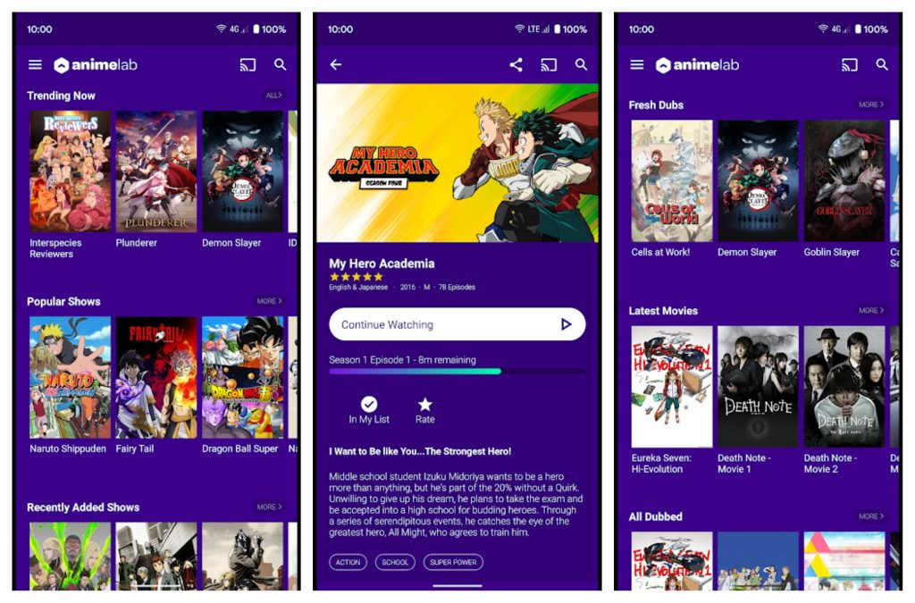 anime apps for android AnimeLab