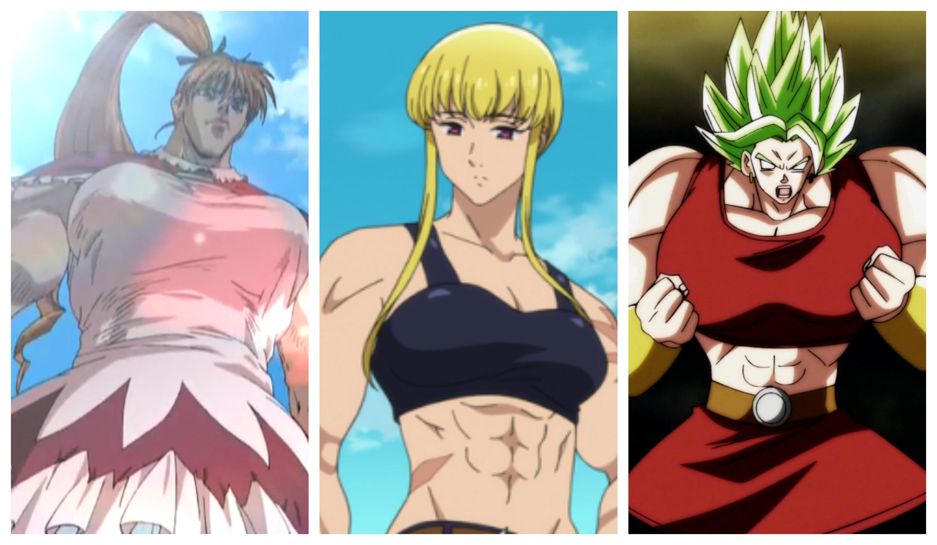muscular anime girls