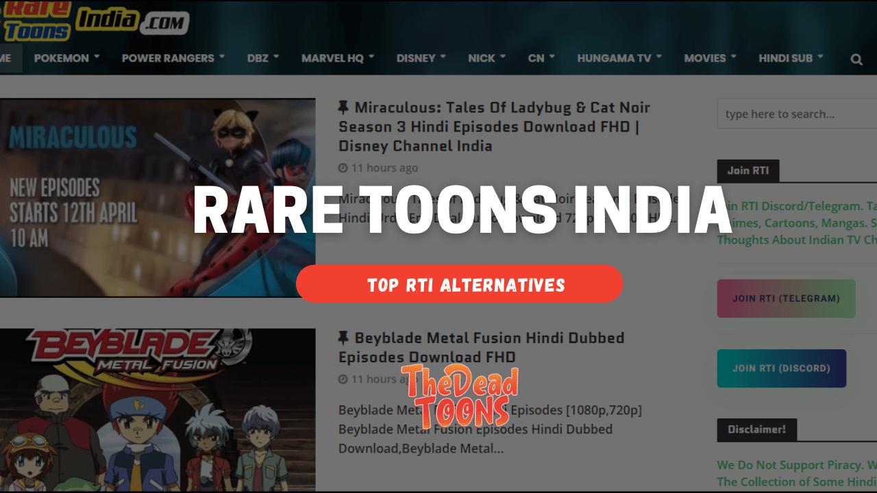 Rare Toons India Anime Hindi Download Top RTI Alternatives