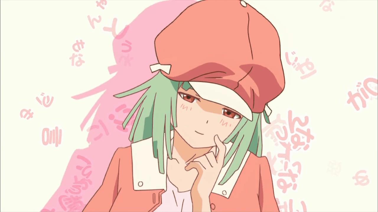 Nadeko Sengoku nervous anime girl from Bakemonogatari