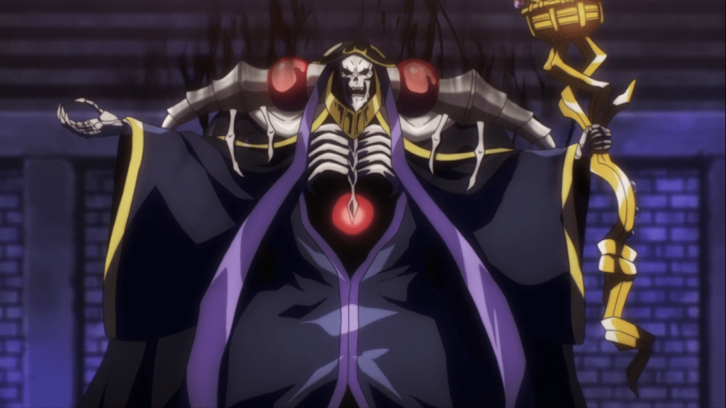 anime where the protagonist villain is op mc Ainz Ooal Gown from Overlord